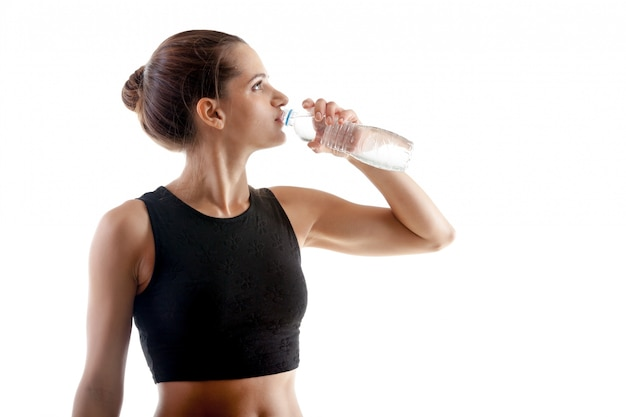 Thirsty woman after exercising