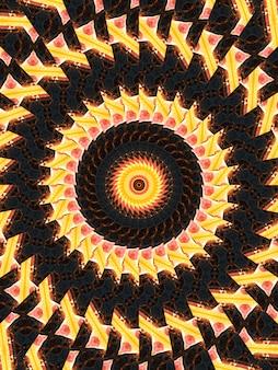 Это абстрактный калейдоскоп иллюстраций с дизайнерским искусством, настенным рисунком, уникальным и фоном. он идеально подходит для узора батика, богемы, настенного искусства, фона, дизайна ковров, гобелена. вертикальное изображение.