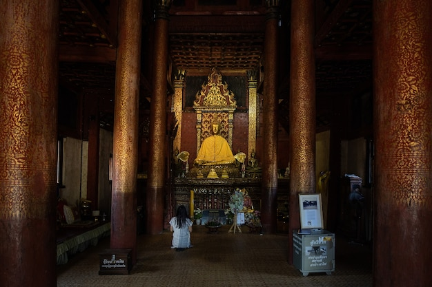 This is the picture of buddhist temple in chiang mai, thailand