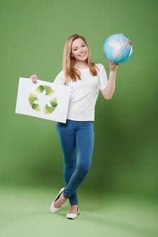 Questo pianeta è la tua casa, quindi inizia il riciclaggio