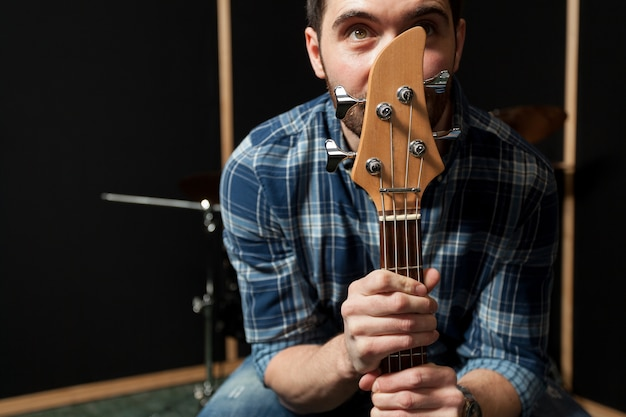 Thoughtful guitarist