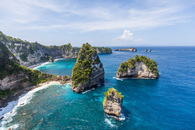 Thousand island on nusa penida, near bali, indonesia