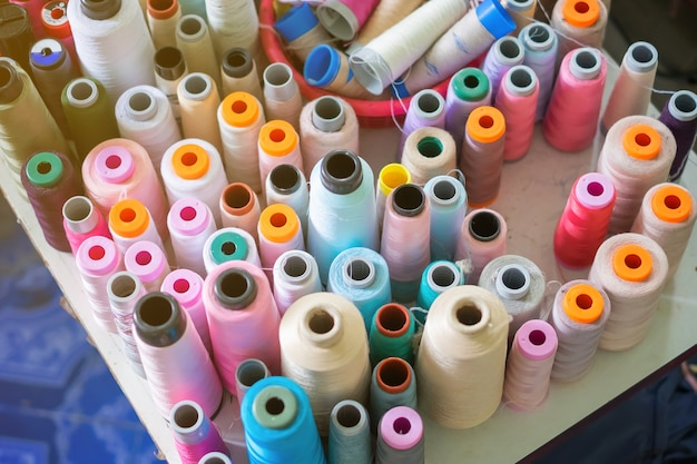 Thread in factory sew.