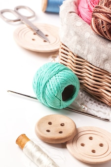 Threads and buttons