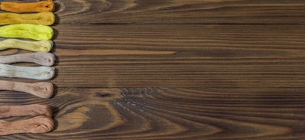 테이블, 복사 공간에 크로스 스티치 스레드