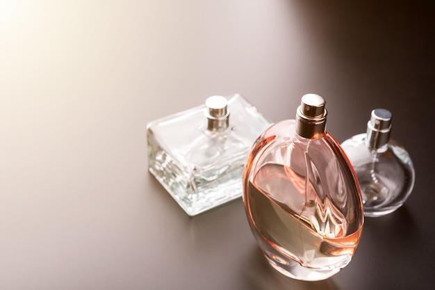 Three bottles of perfumes