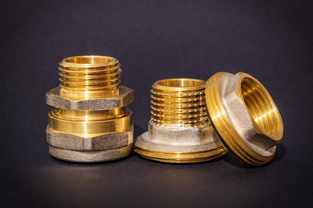 Three brass fittings is often used for water and gas installations