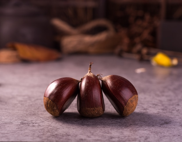 Three chesnuts view