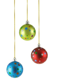 Copyspace와 흰색 배경 위에 절연 3 크리스마스 공
