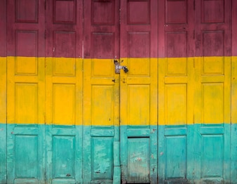 Three color old door