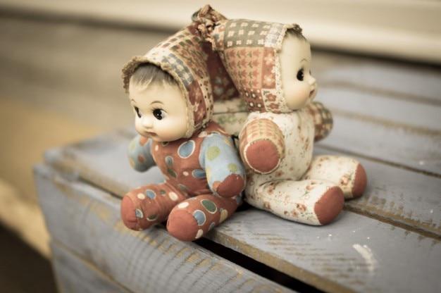 Three cute puppets