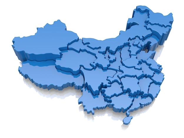 中国の三次元地図