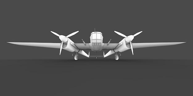 第二次世界大戦の爆撃機の3次元モデル