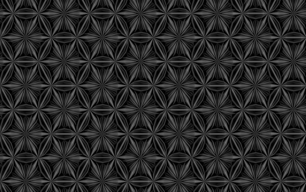Three-dimensional texture of complex geometric elements intertwined with each other