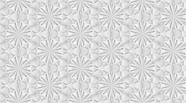 互いに絡み合った複雑な幾何学的要素の3次元テクスチャ3dイラスト