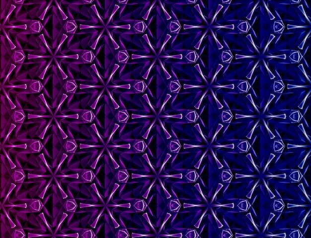 複雑な幾何学的要素が絡み合った立体感