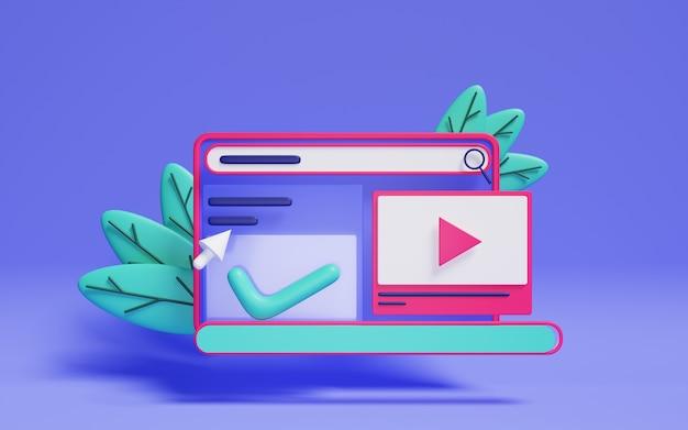 Концепция трехмерного веб-дизайна