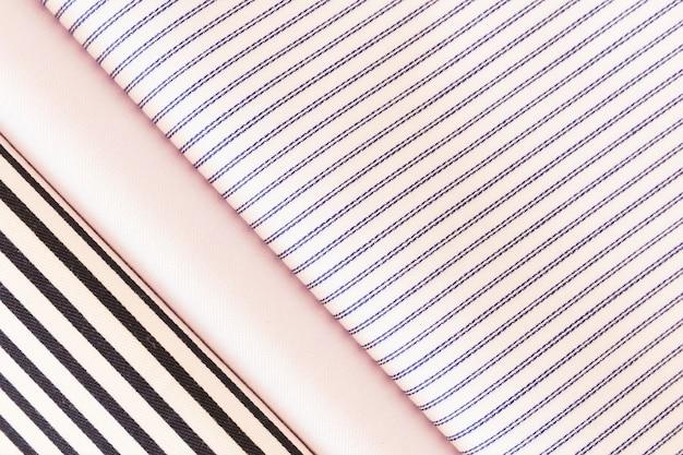 Three elegant fabric texture background
