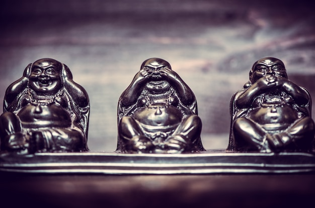 Three figures of buddah philosophy