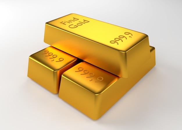碑文と3つの金の地金
