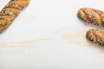 Three loaves of fresh bread