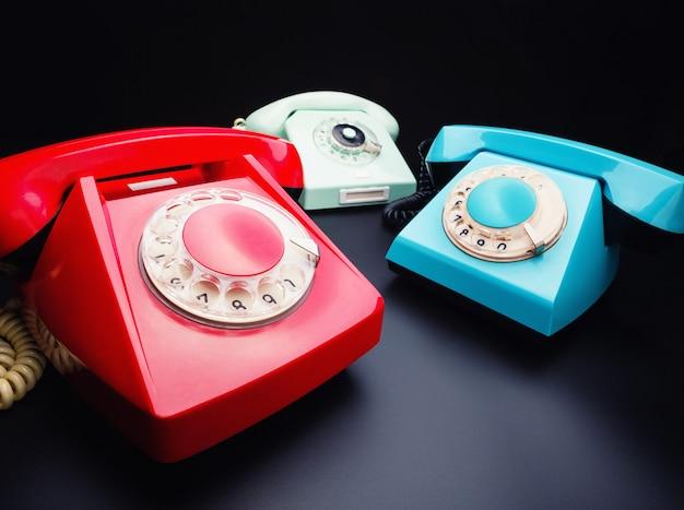 Три старых телефона