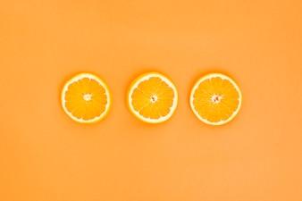 Three orange slices
