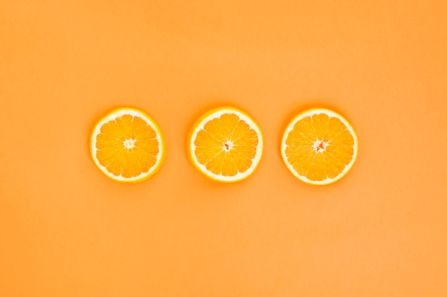 Three orange slices