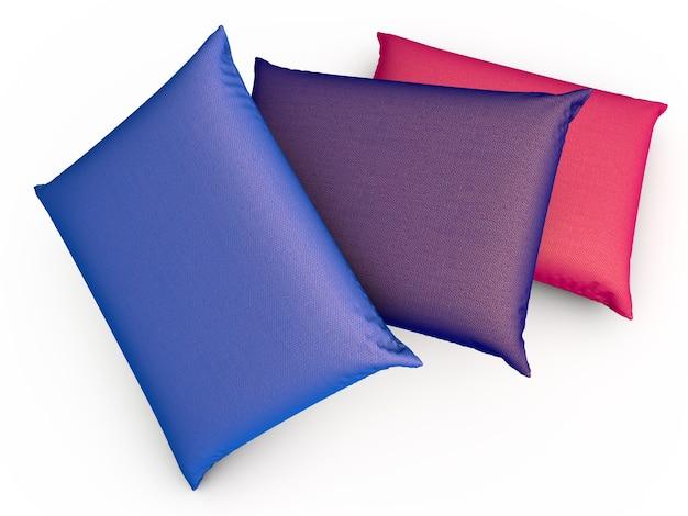 Три подушки. 3d визуализации иллюстрации.