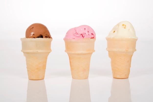 アイスクリームの3つのスクープ