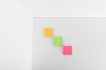 Three sticky notes
