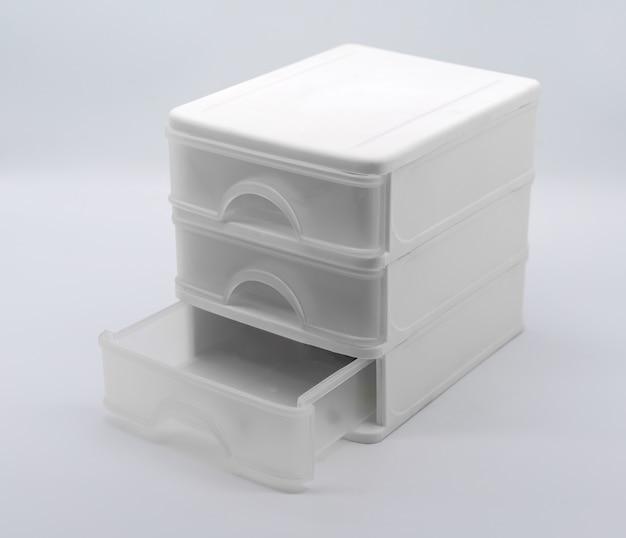 Three storey box isolated on white background
