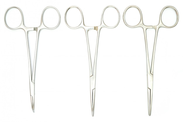 Three surgical clamps