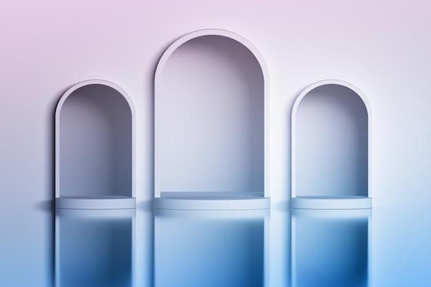 Three white arches