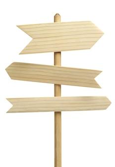 3 나무 화살표 기호 흰색 절연