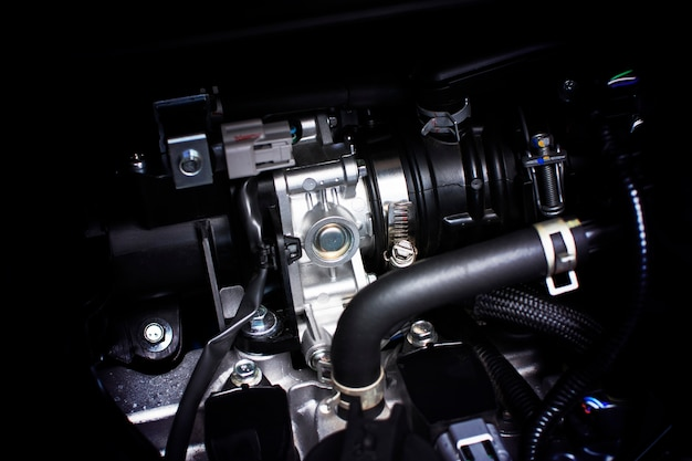 Throttle body installed in gasoline part engine system of car.