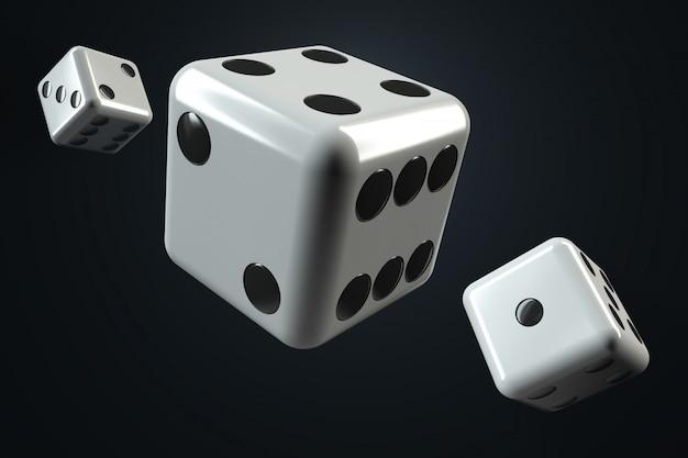 Thrown dice.