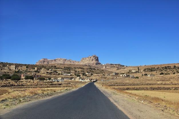 イエメンの山のトゥーラ村