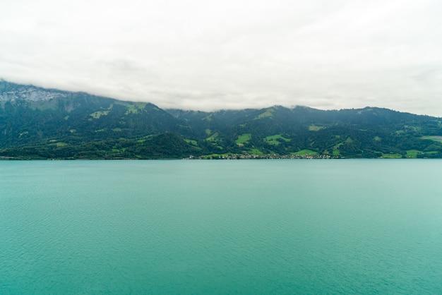 Thun lake with cloudy