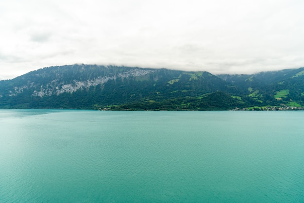 Thun lake with cloudy