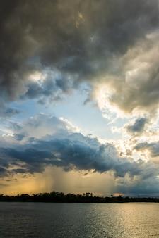 Thunder storm sky rain clouds