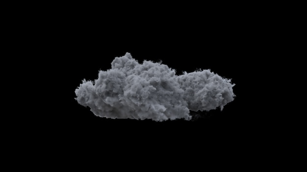 Thundercloud on a black wall