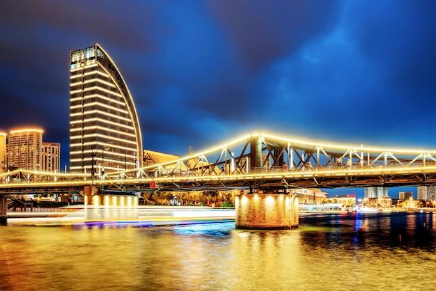 Tianjin city, china, night view