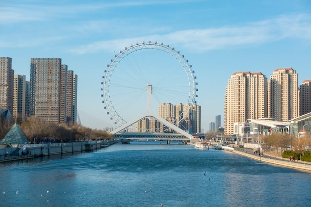 Tianjin eye  in tianjin , china