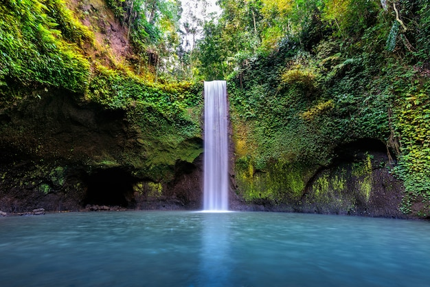 Tibumana waterfall in bali island, indonesia.