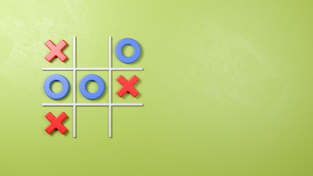 Tic-tac-toe game on the wall