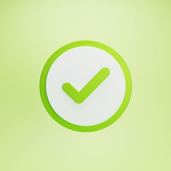 Tick check mark button and approved symbol