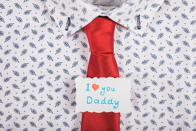 Tie concept for fathers day