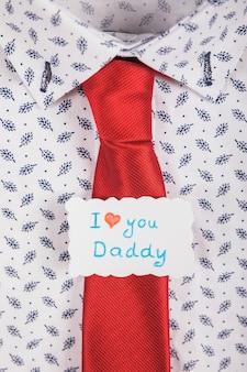 Концепция галстука на день отца