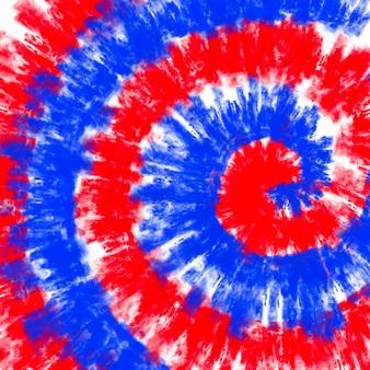 Галстук краситель американский флаг фон красный и синий цвет